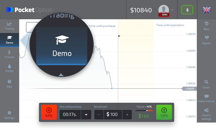 Start trading on Demo account with virtual money